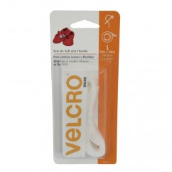 VELCRO® Brand SOFT & FLEXIBLE SEW ON TAPE - WHITE