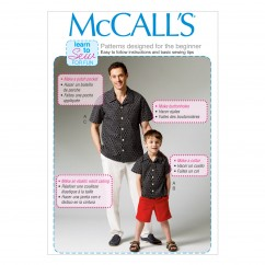 M6972 Men's/Boys' Shirt, Shorts and Pants (size: 3-4 5-6 7-8)