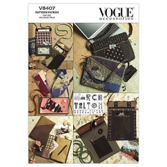 V8407 Bags, Eyeglass Case and Journal Cover - Crafts (Size: One size only)