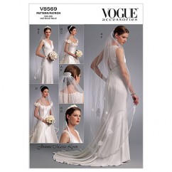 V8569 Headpieces, Tiara and Bridal Veils - Misses (Size: One size only)