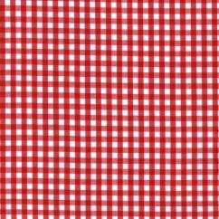 """Gingham Check - Red 1/4"""""""